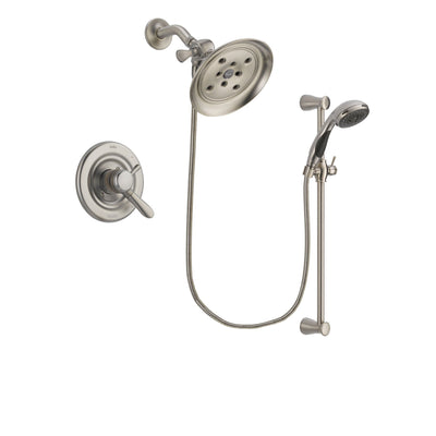 Delta Lahara Stainless Steel Finish Shower Faucet System w/ Hand Spray DSP1602V