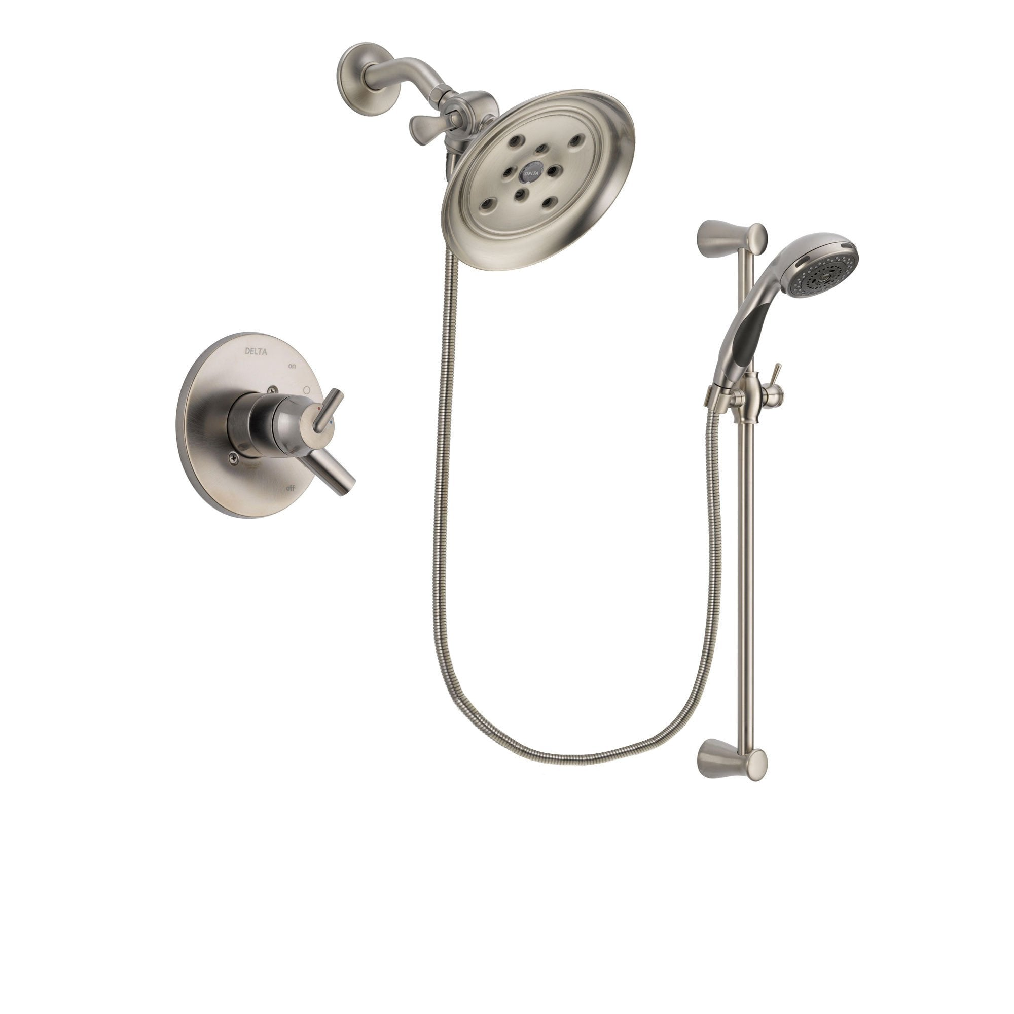 Delta Trinsic Stainless Steel Finish Shower Faucet System w/Hand Shower DSP1604V