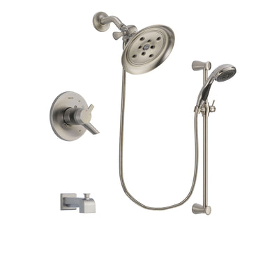 Delta Compel Stainless Steel Finish Tub and Shower System w/Hand Shower DSP1605V