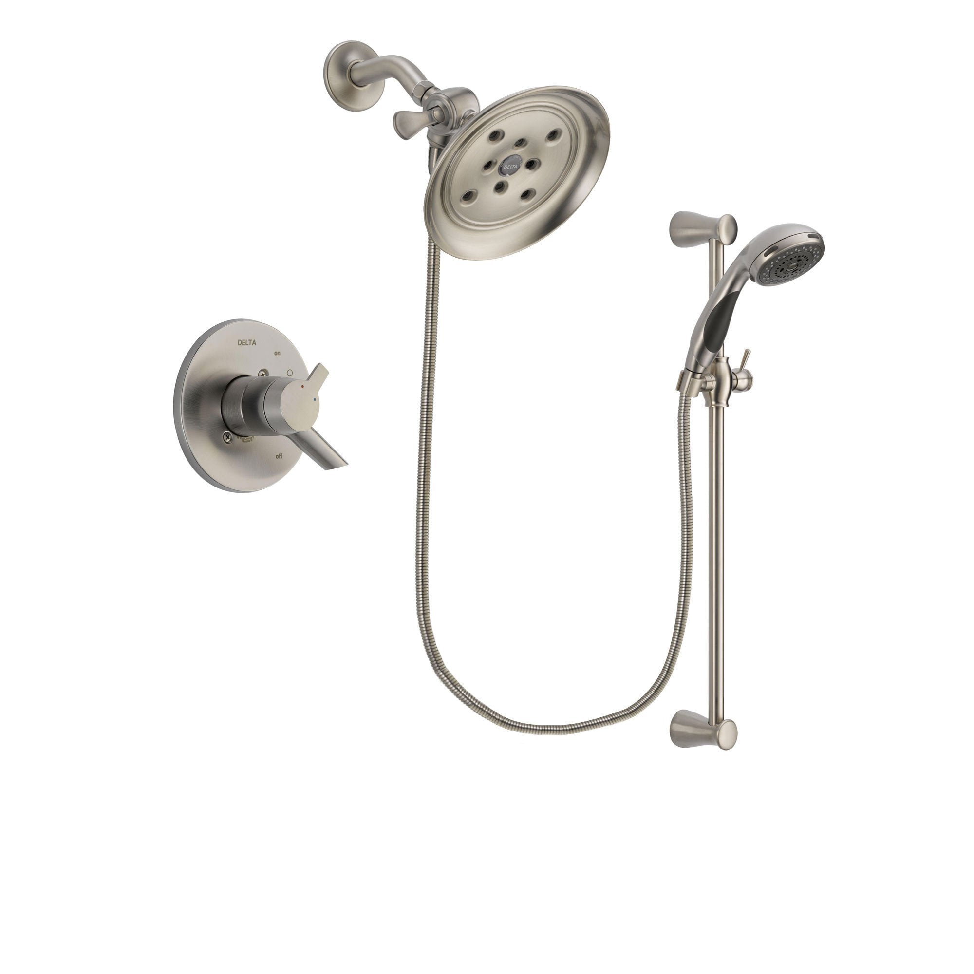 Delta Compel Stainless Steel Finish Shower Faucet System w/ Hand Spray DSP1606V