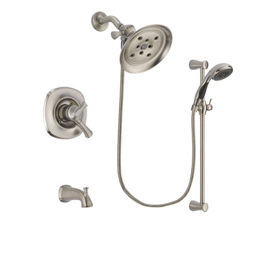 Delta Addison Stainless Steel Finish Tub and Shower System w/Hand Spray DSP1609V