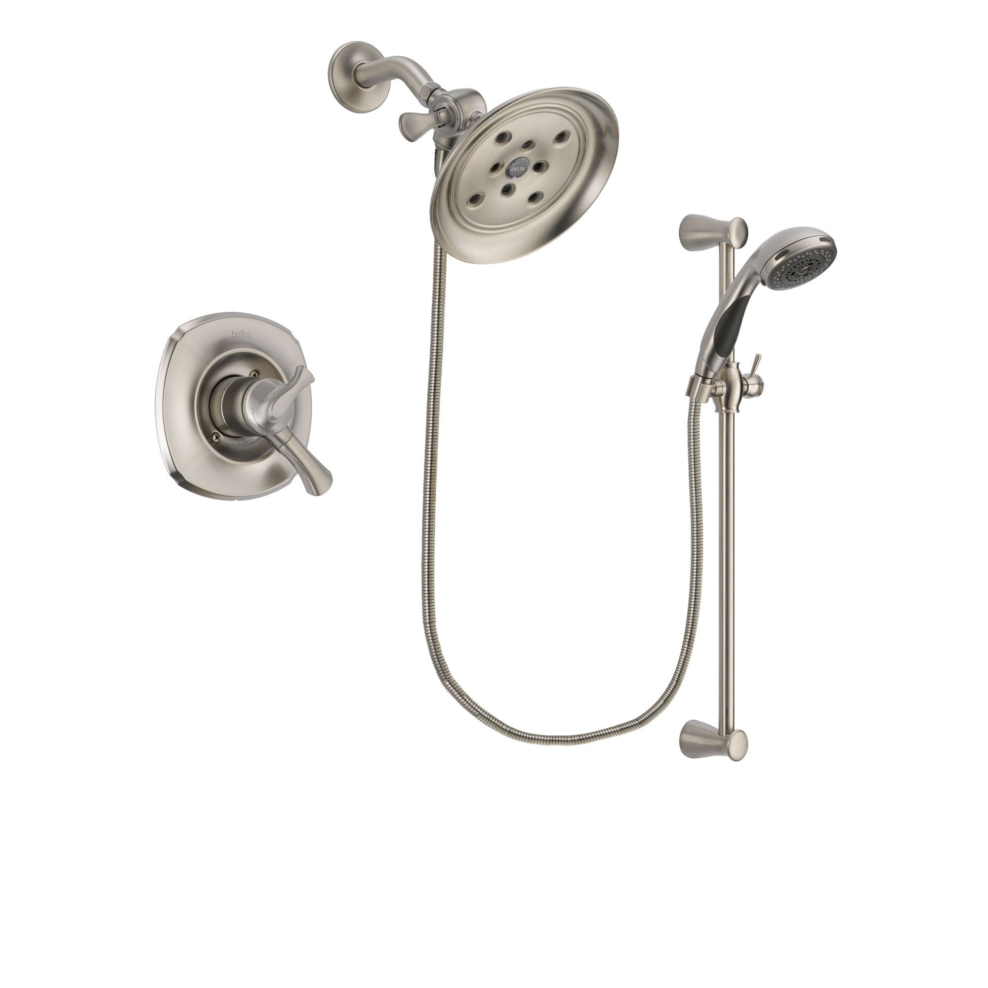 Delta Addison Stainless Steel Finish Shower Faucet System w/Hand Shower DSP1610V