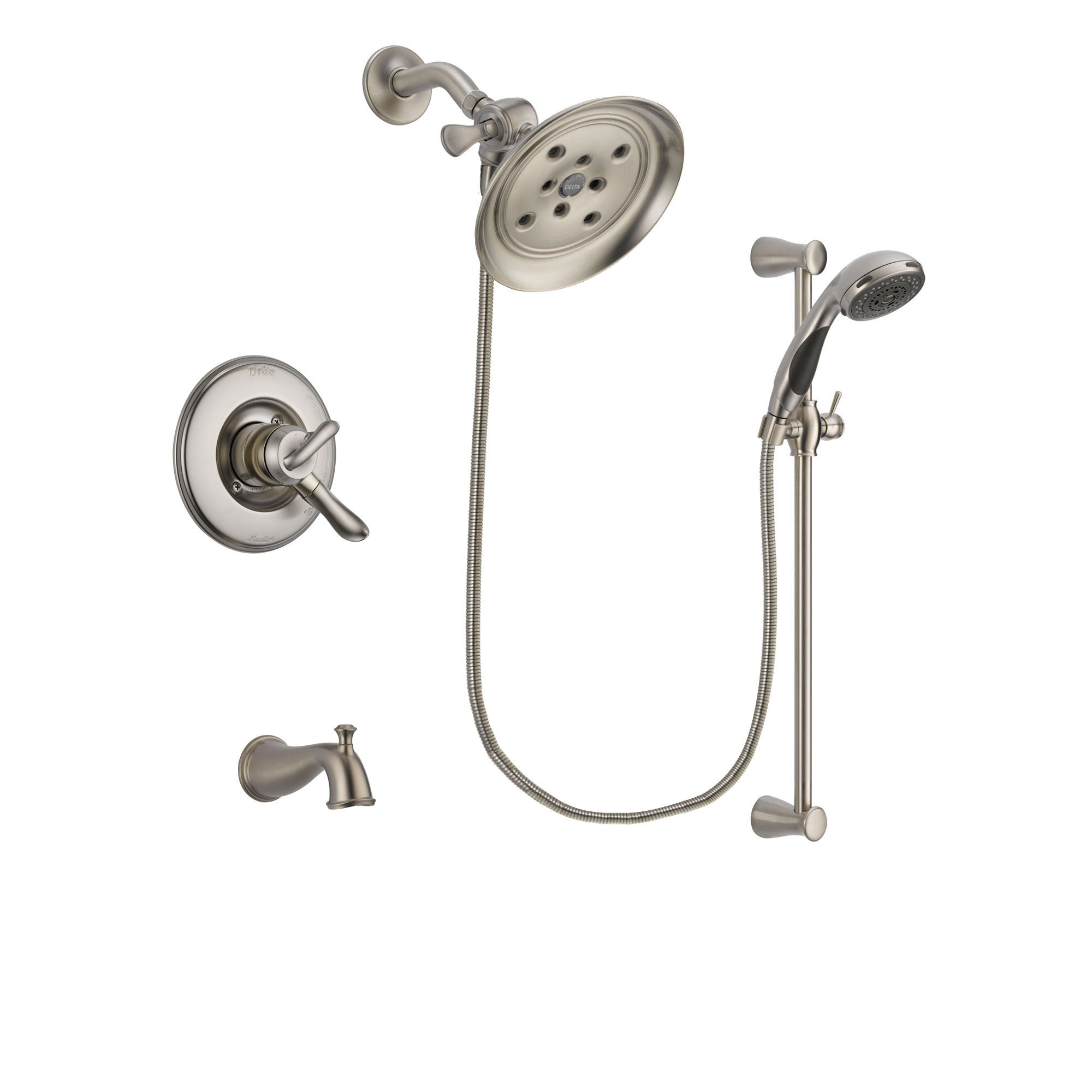 Delta Linden Stainless Steel Finish Tub and Shower System w/Hand Shower DSP1611V