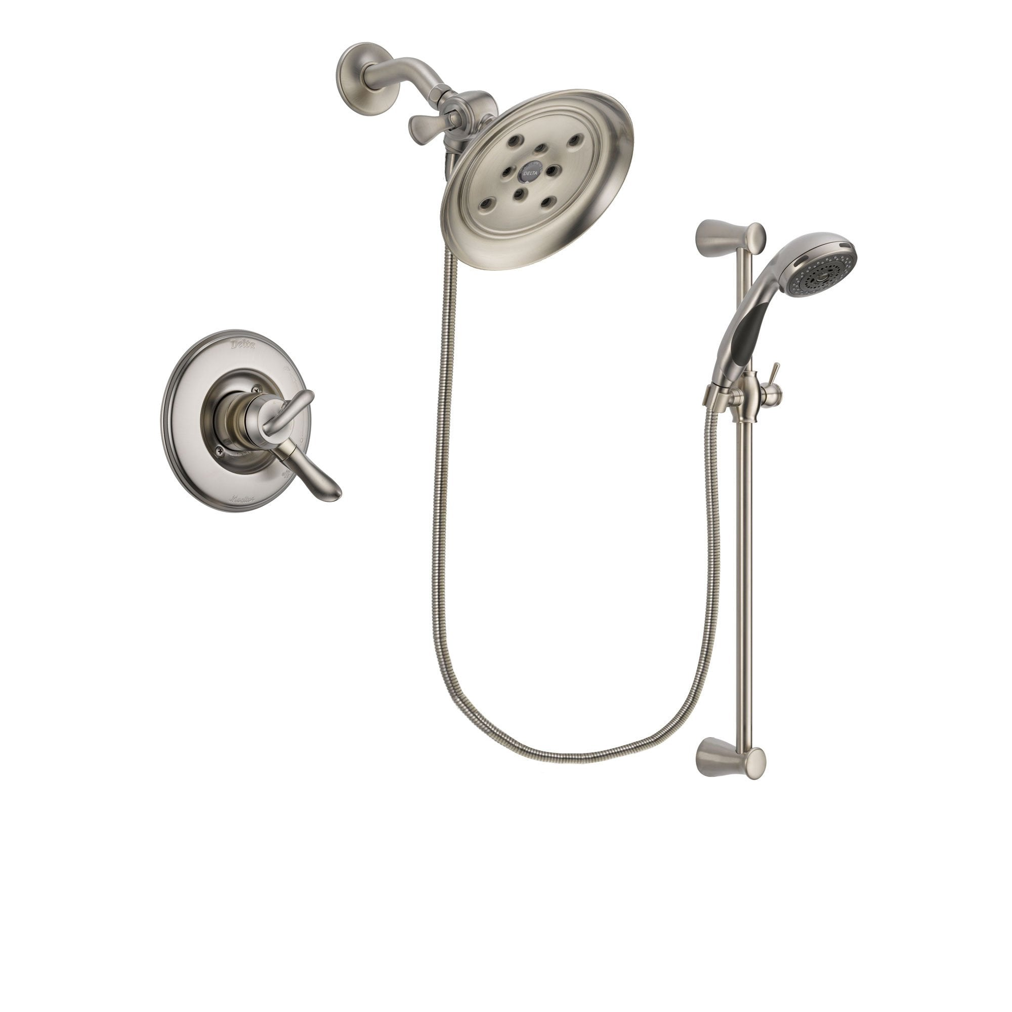 Delta Linden Stainless Steel Finish Shower Faucet System w/ Hand Spray DSP1612V