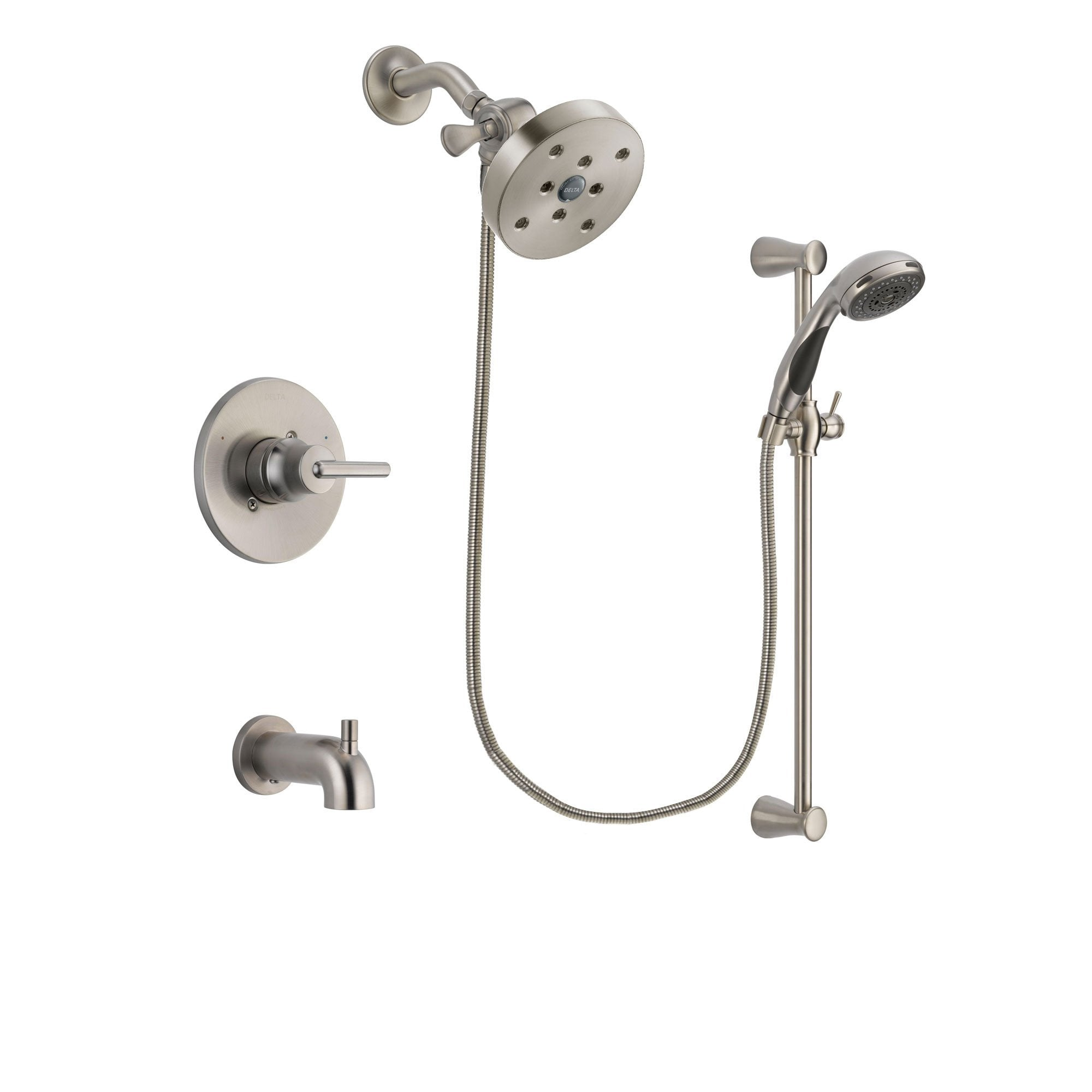Delta Trinsic Stainless Steel Finish Tub and Shower System w/Hand Spray DSP1627V