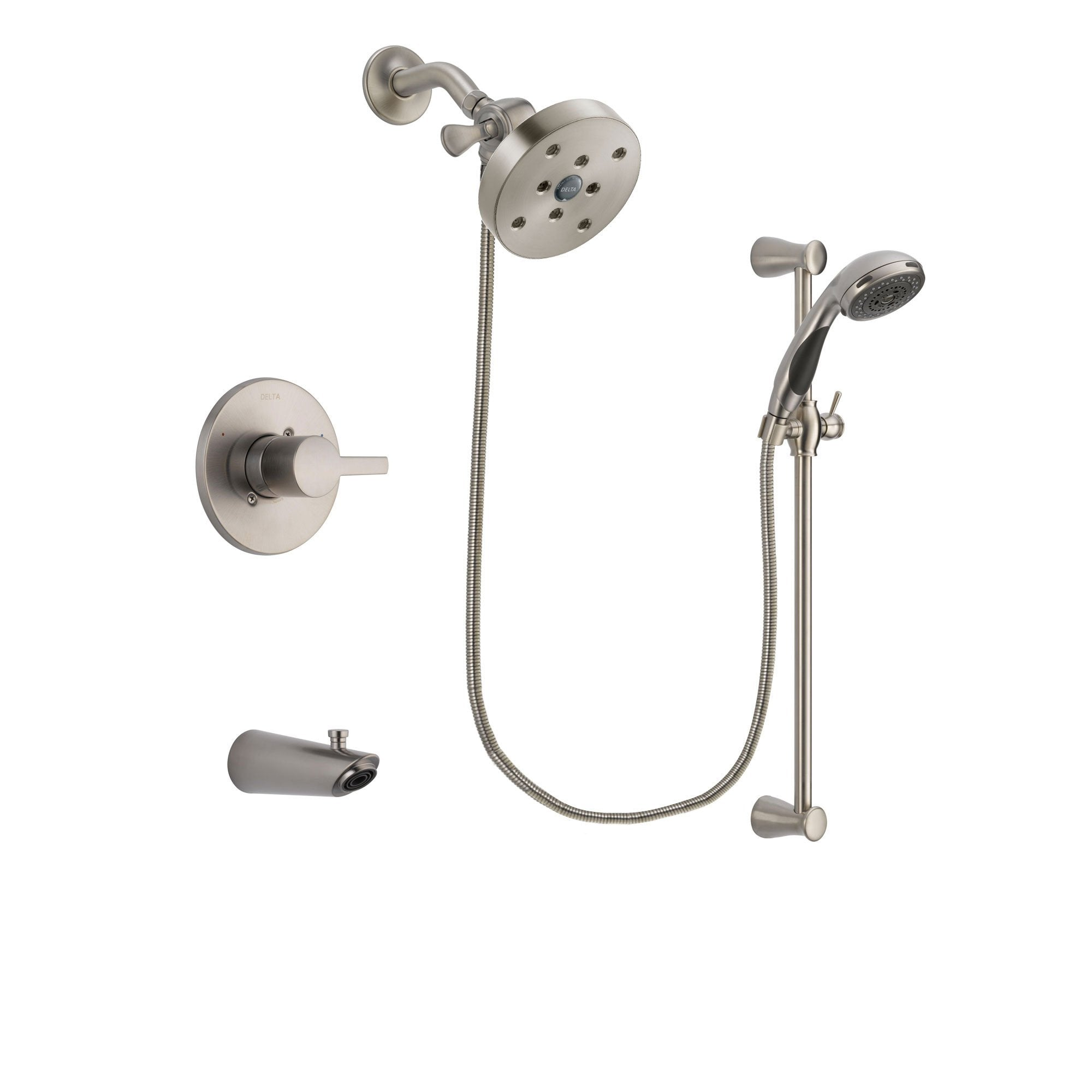 Delta Compel Stainless Steel Finish Tub and Shower System w/Hand Shower DSP1629V