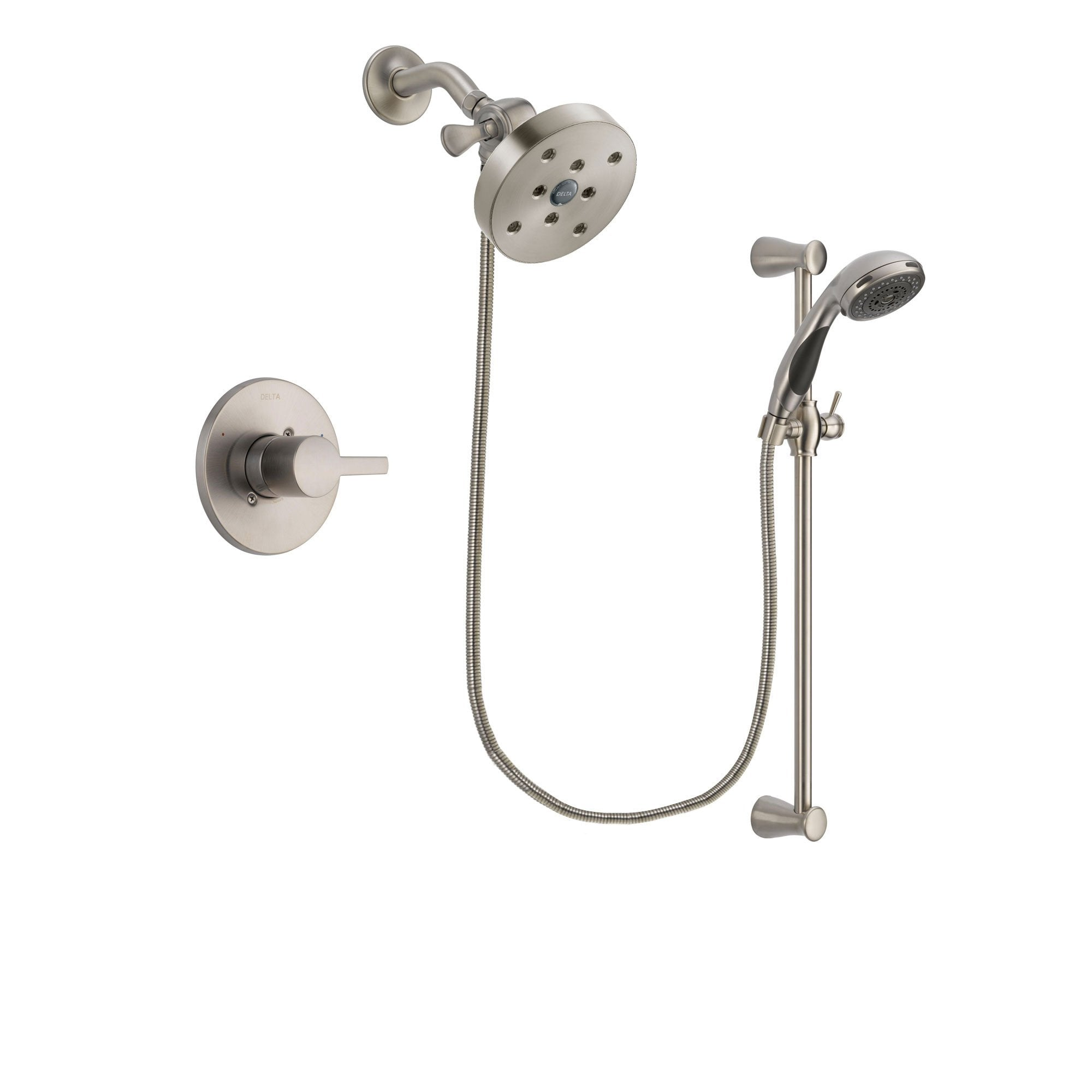 Delta Compel Stainless Steel Finish Shower Faucet System w/ Hand Spray DSP1630V