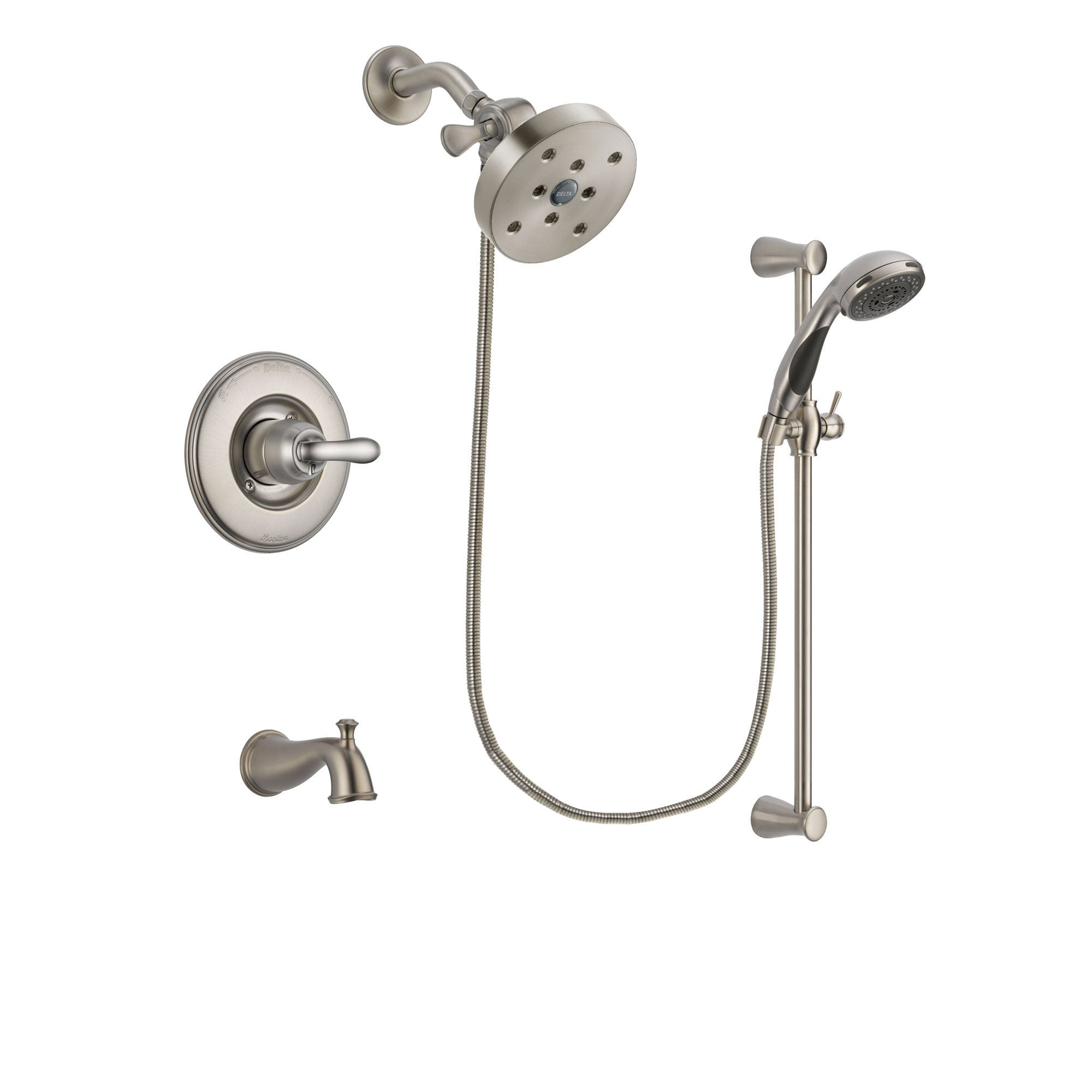 Delta Linden Stainless Steel Finish Tub and Shower System w/Hand Shower DSP1633V