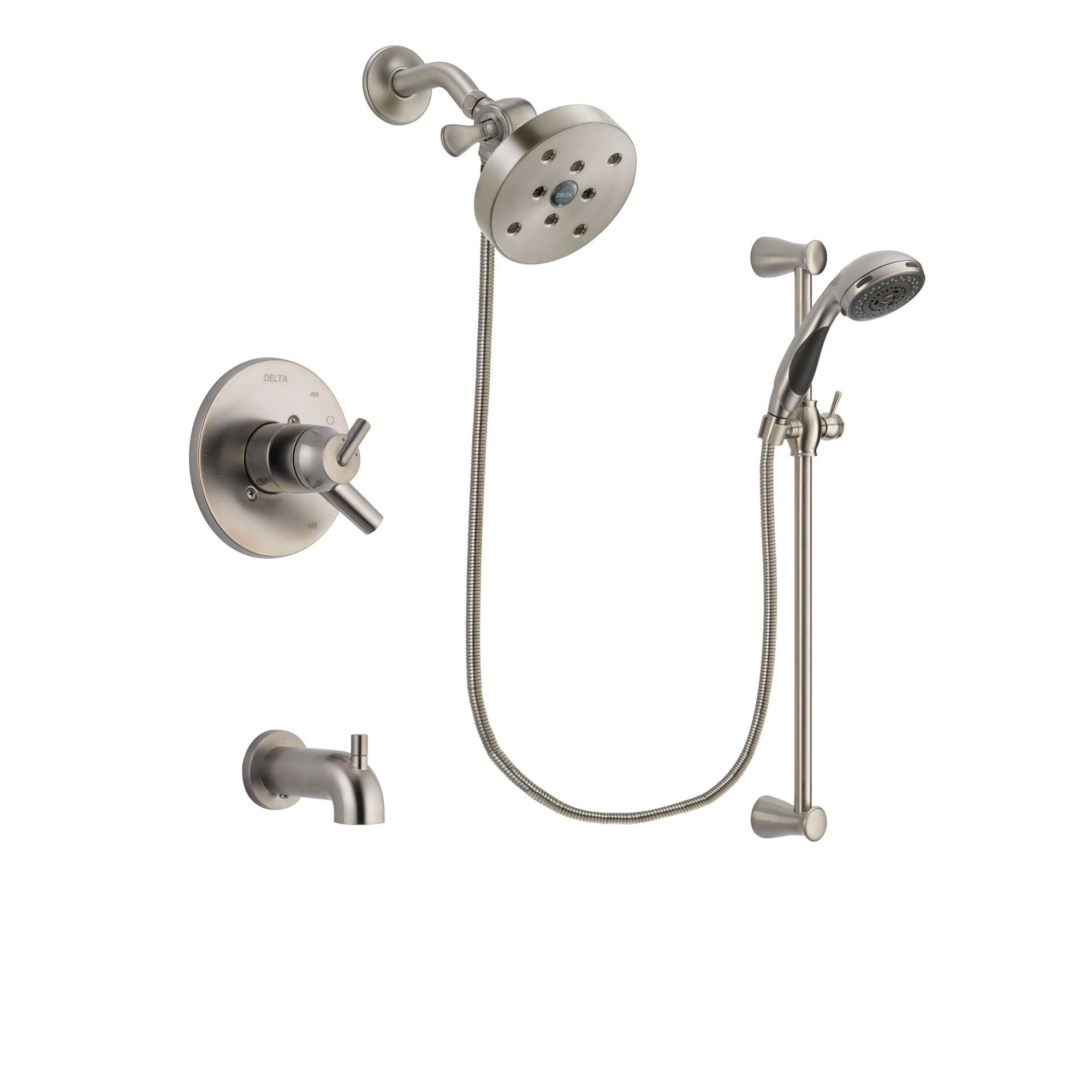 Delta Trinsic Stainless Steel Finish Tub and Shower System w/Hand Spray DSP1637V