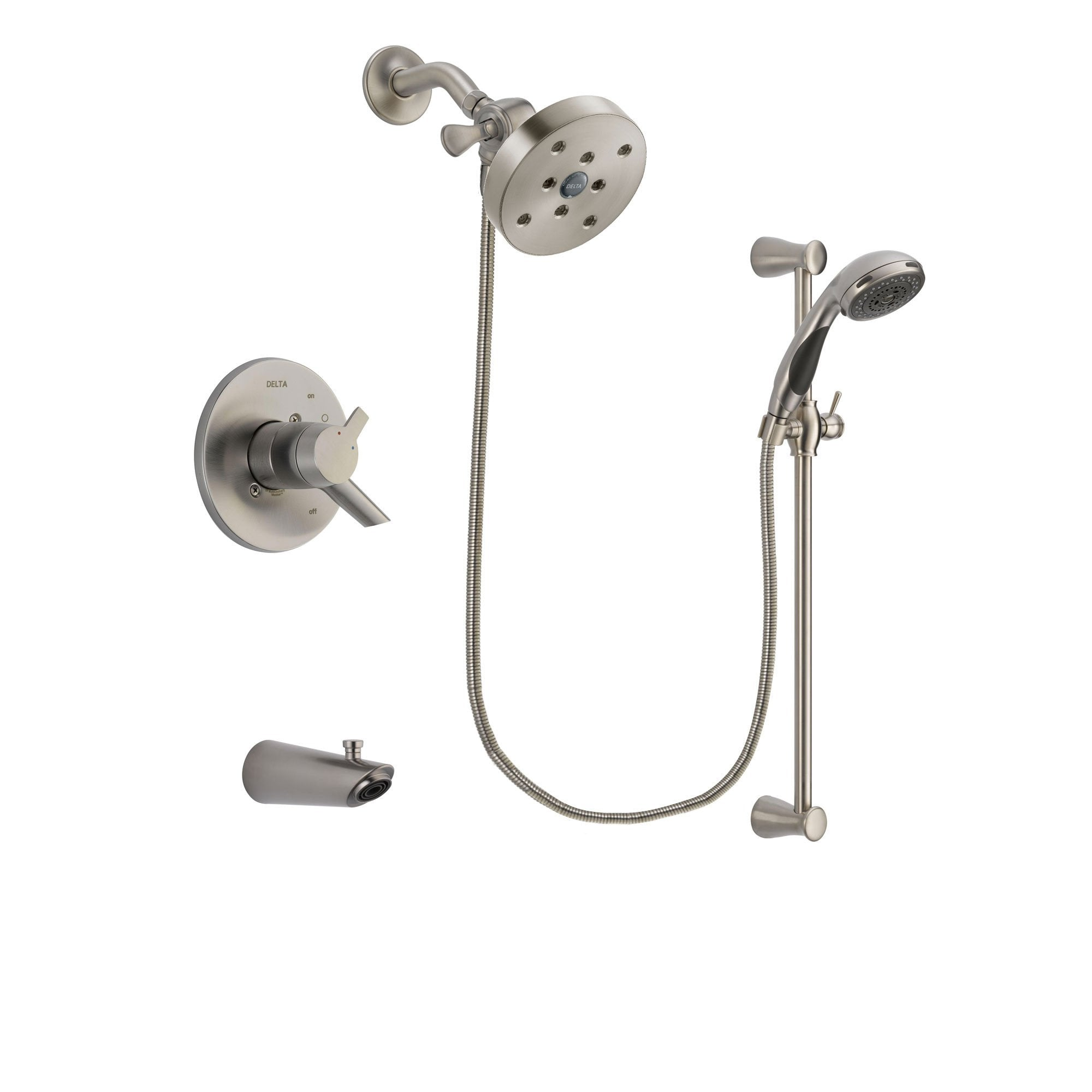 Delta Compel Stainless Steel Finish Tub and Shower System w/Hand Shower DSP1639V