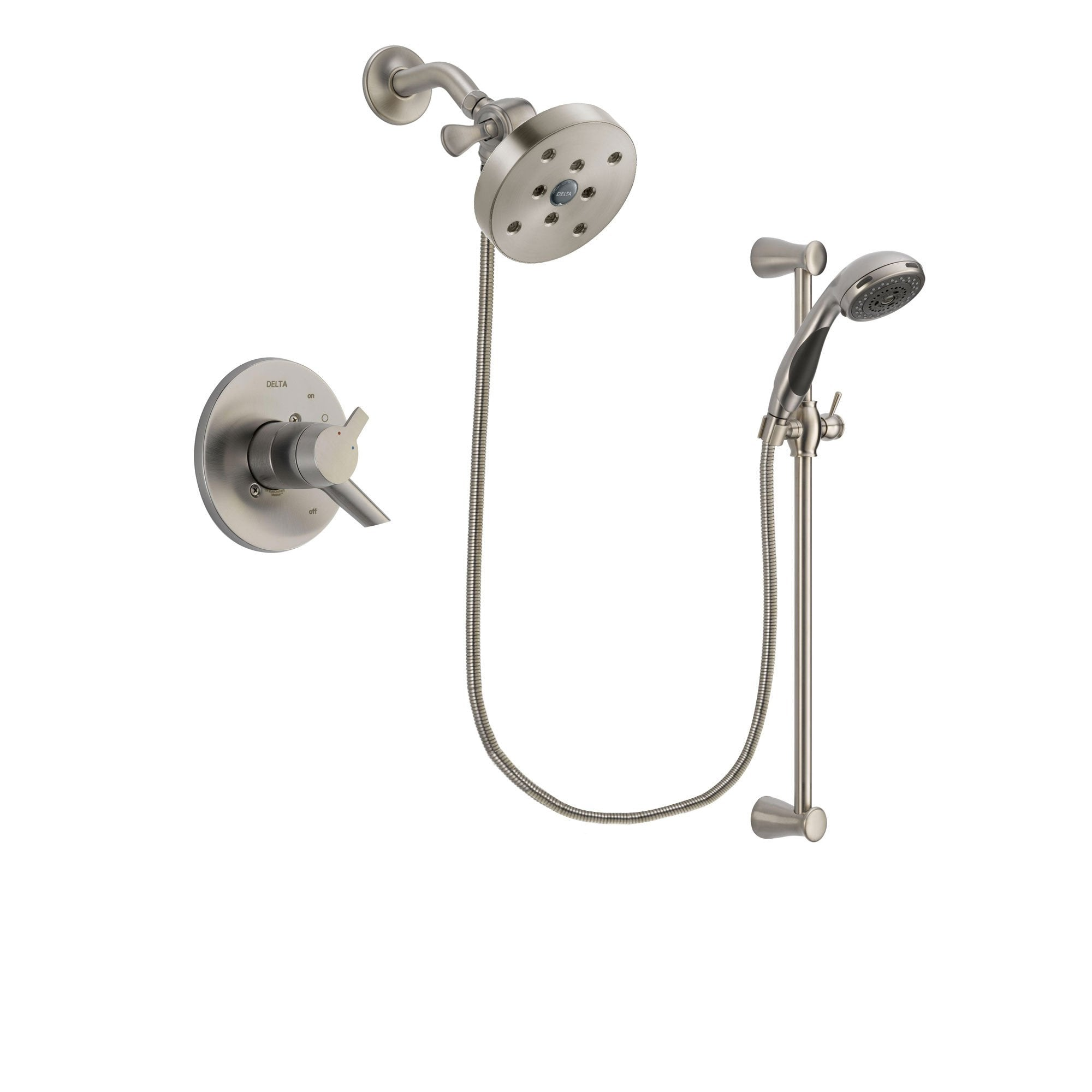 Delta Compel Stainless Steel Finish Shower Faucet System w/ Hand Spray DSP1640V