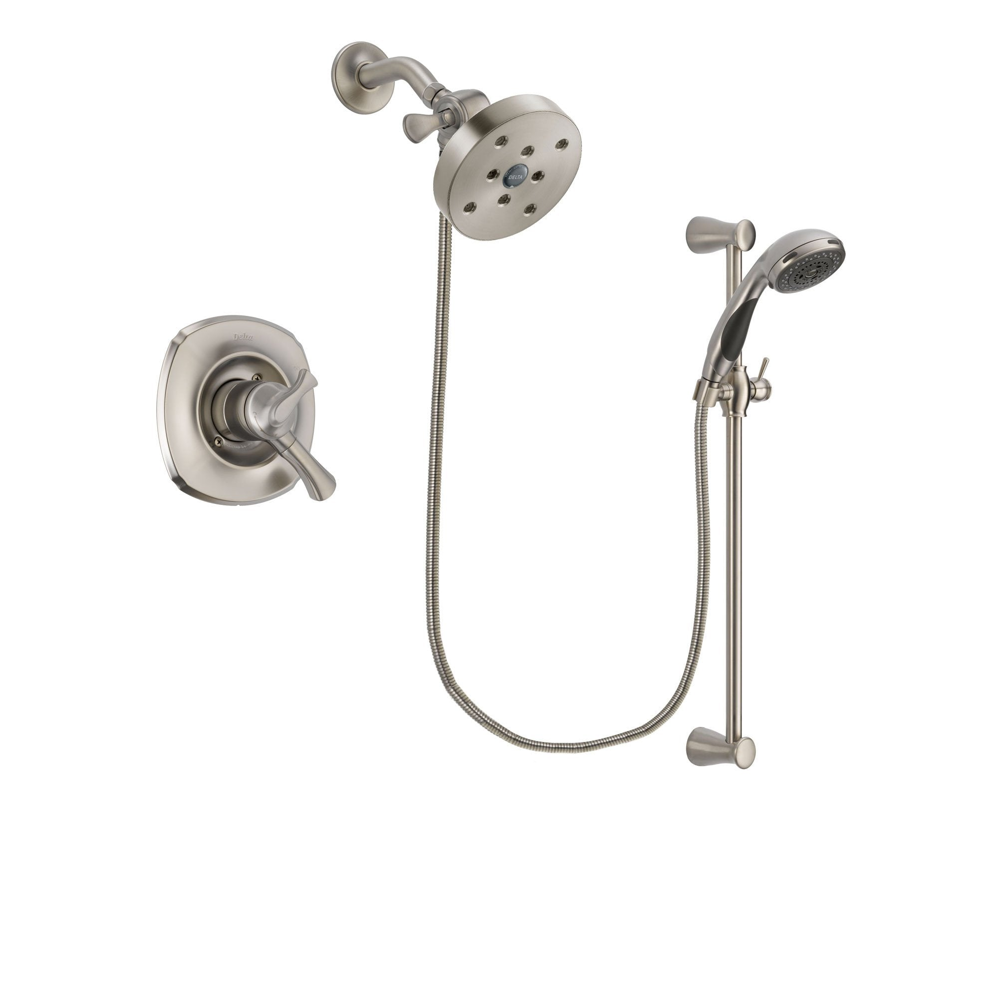 Delta Addison Stainless Steel Finish Shower Faucet System w/Hand Shower DSP1644V