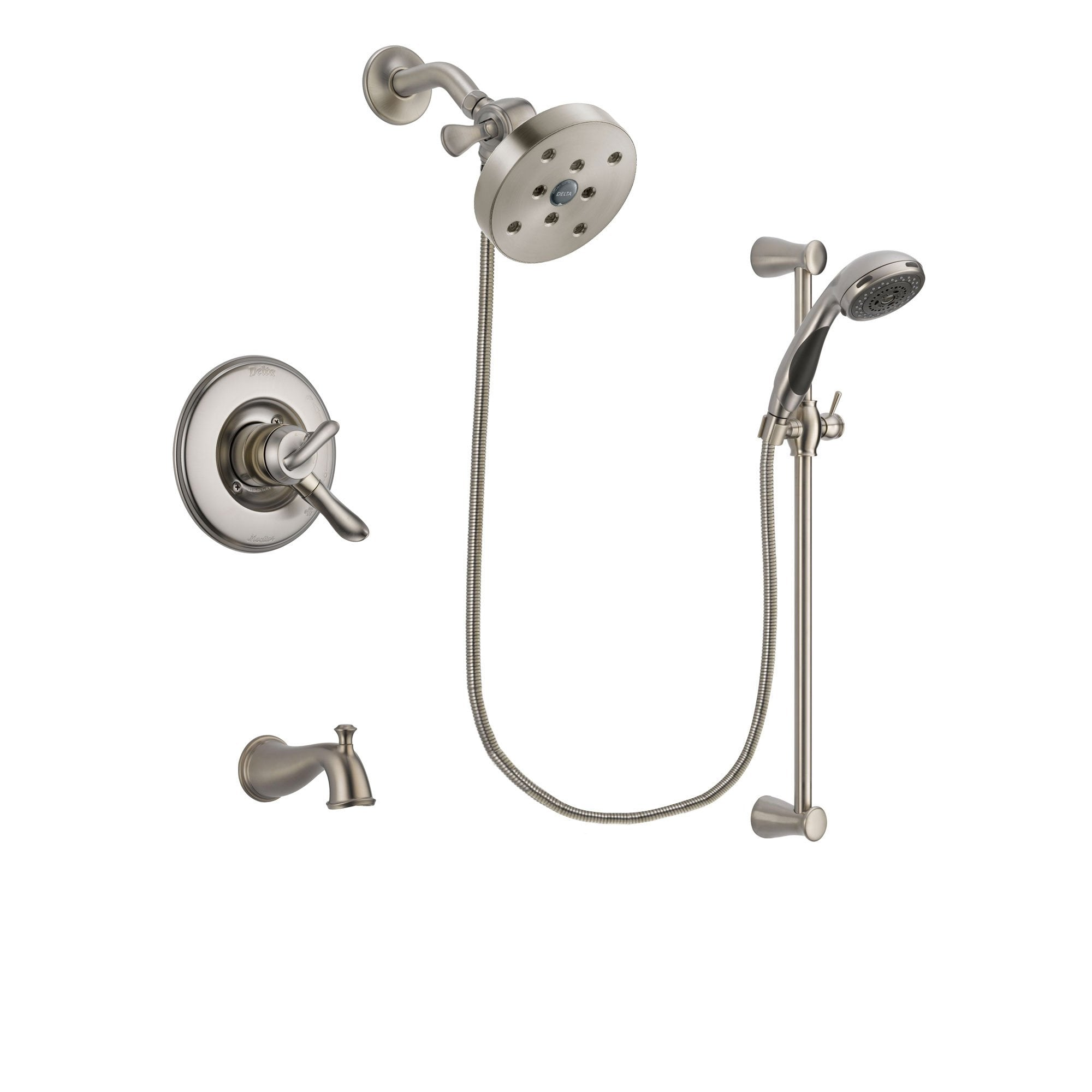 Delta Linden Stainless Steel Finish Tub and Shower System w/Hand Shower DSP1645V