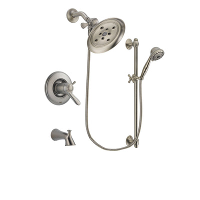 Delta Lahara Stainless Steel Finish Tub and Shower System w/Hand Shower DSP1717V