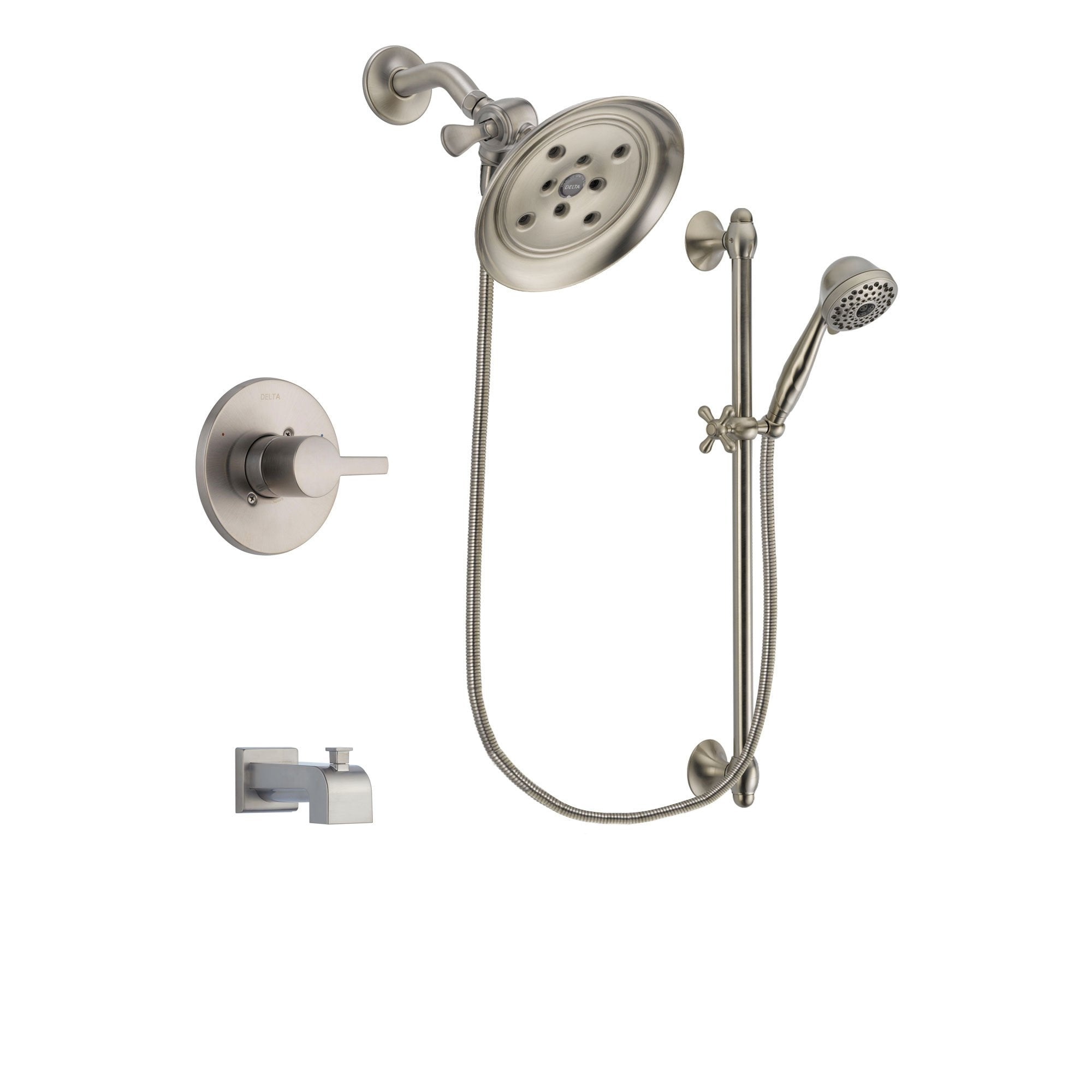 Delta Compel Stainless Steel Finish Tub and Shower System w/Hand Shower DSP1731V