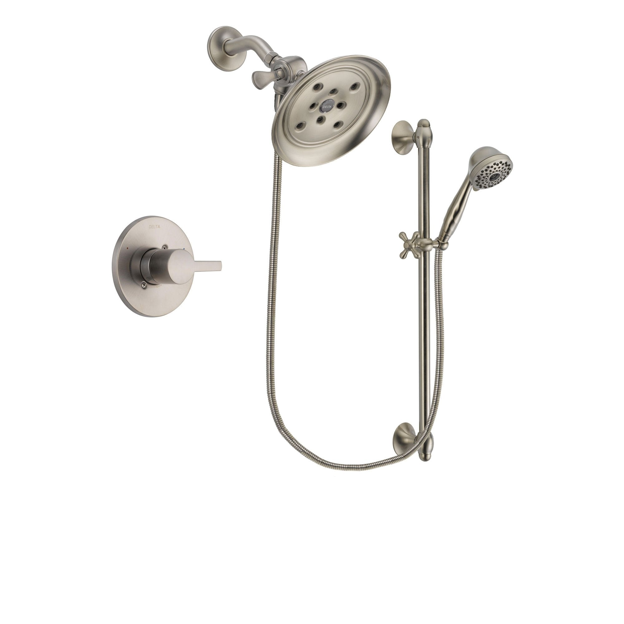 Delta Compel Stainless Steel Finish Shower Faucet System w/ Hand Spray DSP1732V