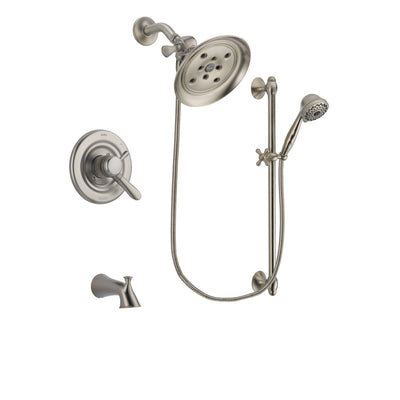 Delta Lahara Stainless Steel Finish Tub and Shower System w/Hand Shower DSP1737V