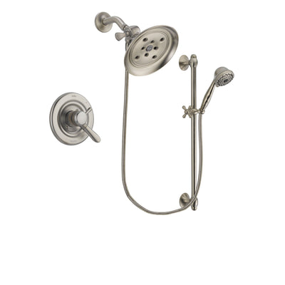 Delta Lahara Stainless Steel Finish Shower Faucet System w/ Hand Spray DSP1738V