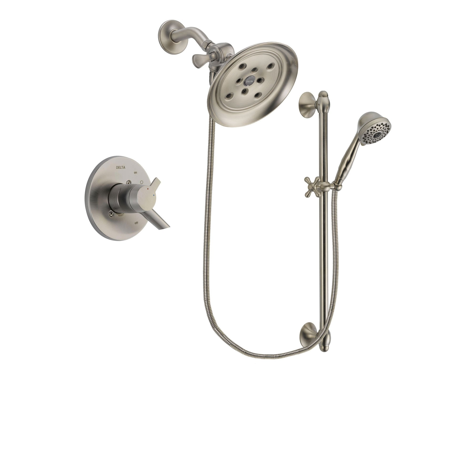 Delta Compel Stainless Steel Finish Shower Faucet System w/ Hand Spray DSP1742V