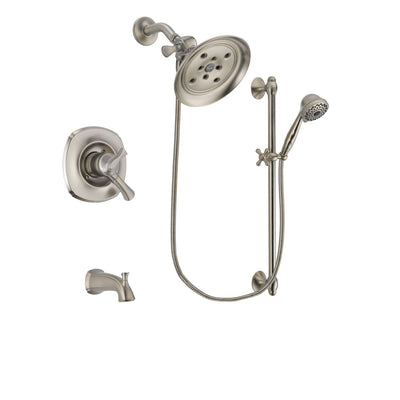 Delta Addison Stainless Steel Finish Tub and Shower System w/Hand Spray DSP1745V