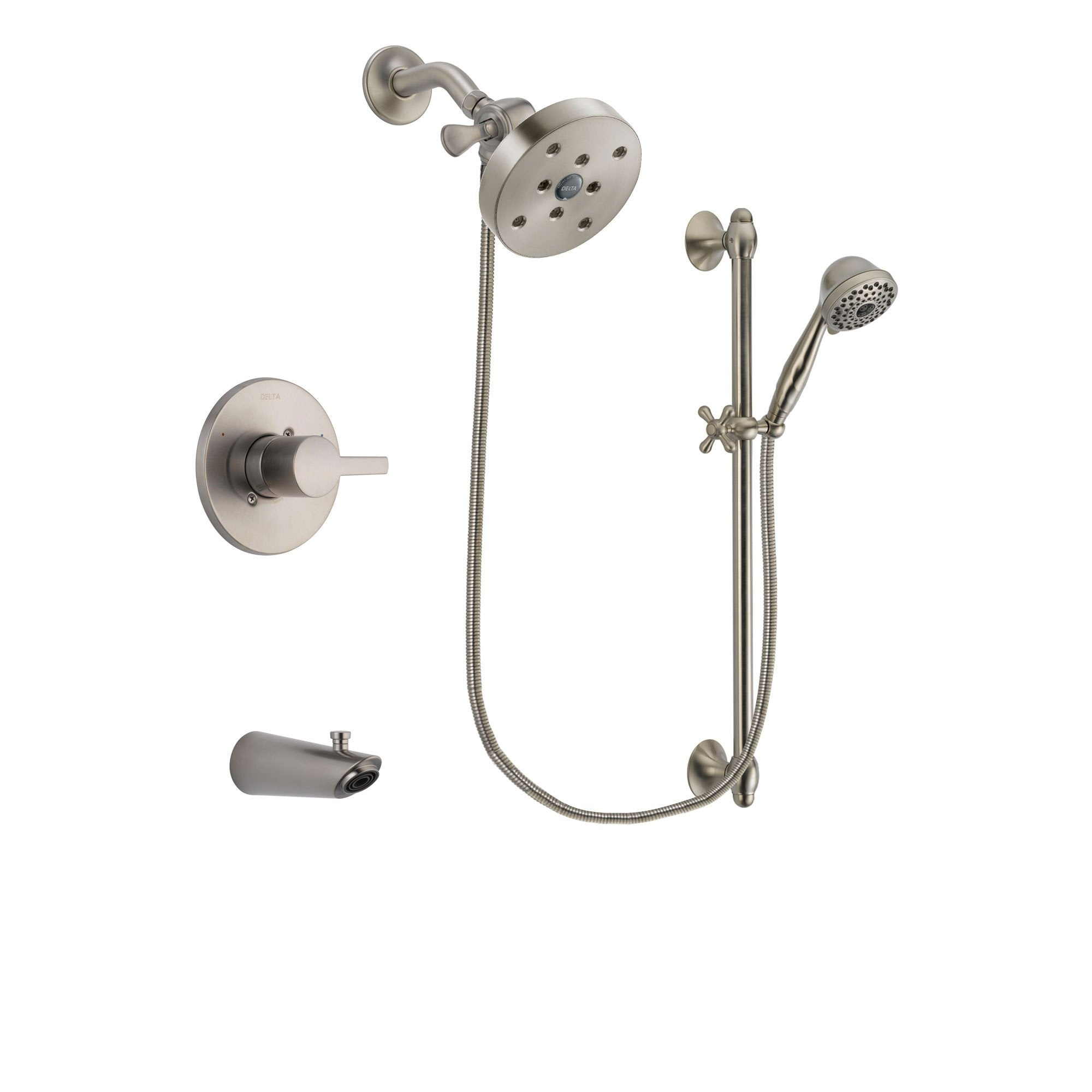 Delta Compel Stainless Steel Finish Tub and Shower System w/Hand Shower DSP1765V