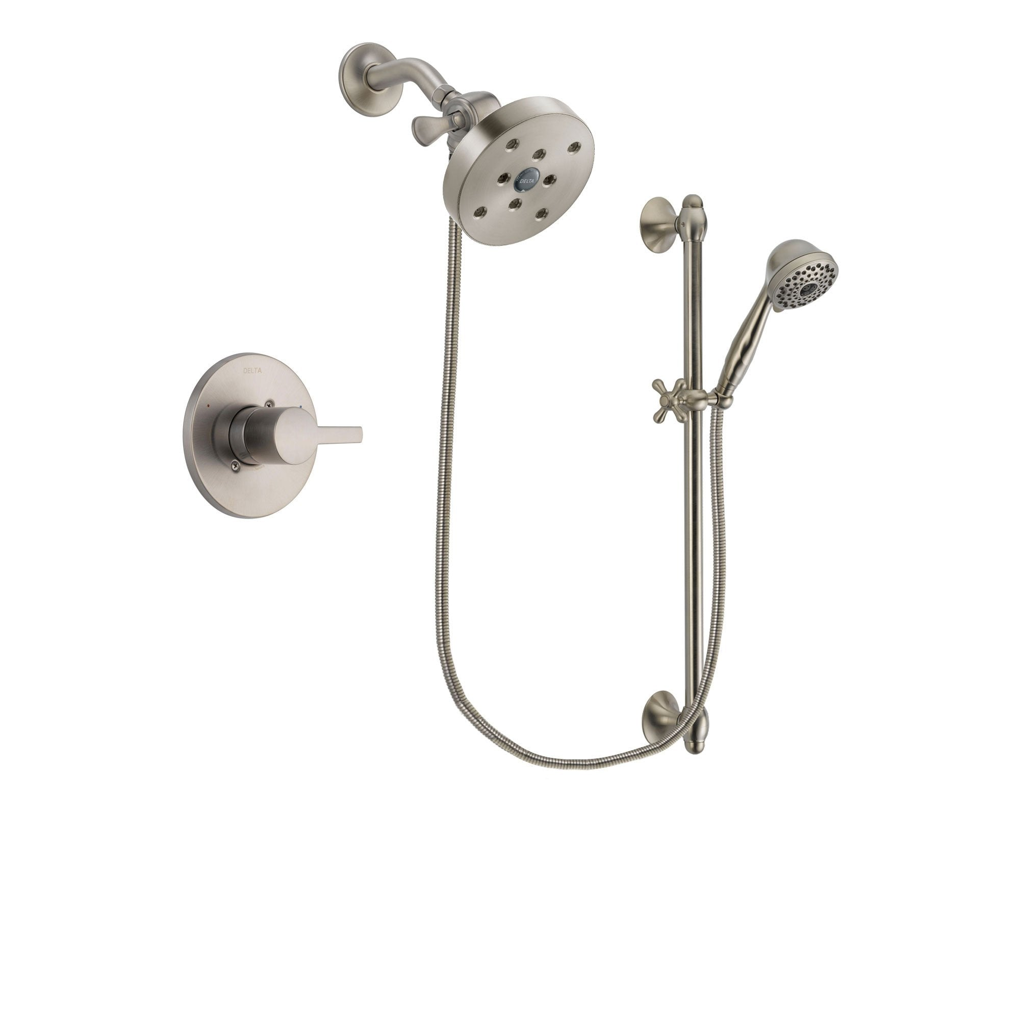 Delta Compel Stainless Steel Finish Shower Faucet System w/ Hand Spray DSP1766V