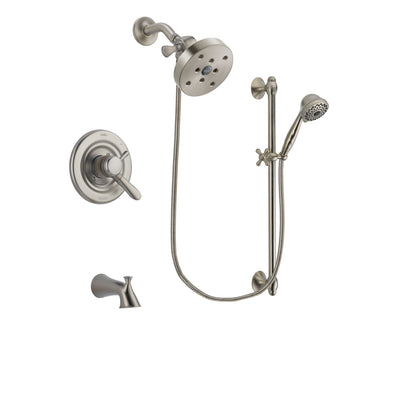 Delta Lahara Stainless Steel Finish Tub and Shower System w/Hand Shower DSP1771V