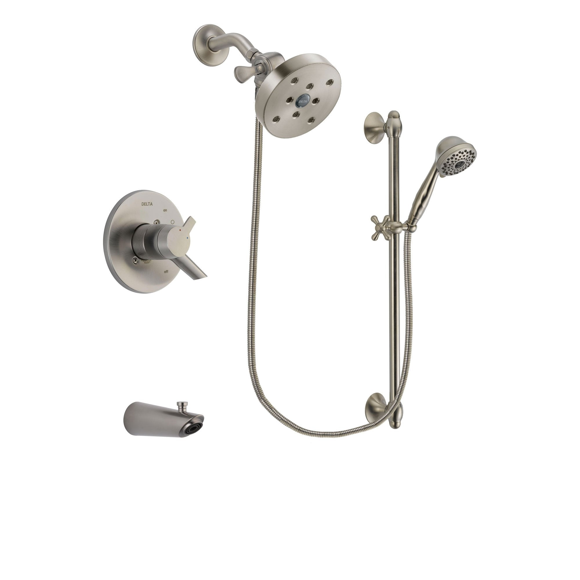 Delta Compel Stainless Steel Finish Tub and Shower System w/Hand Shower DSP1775V