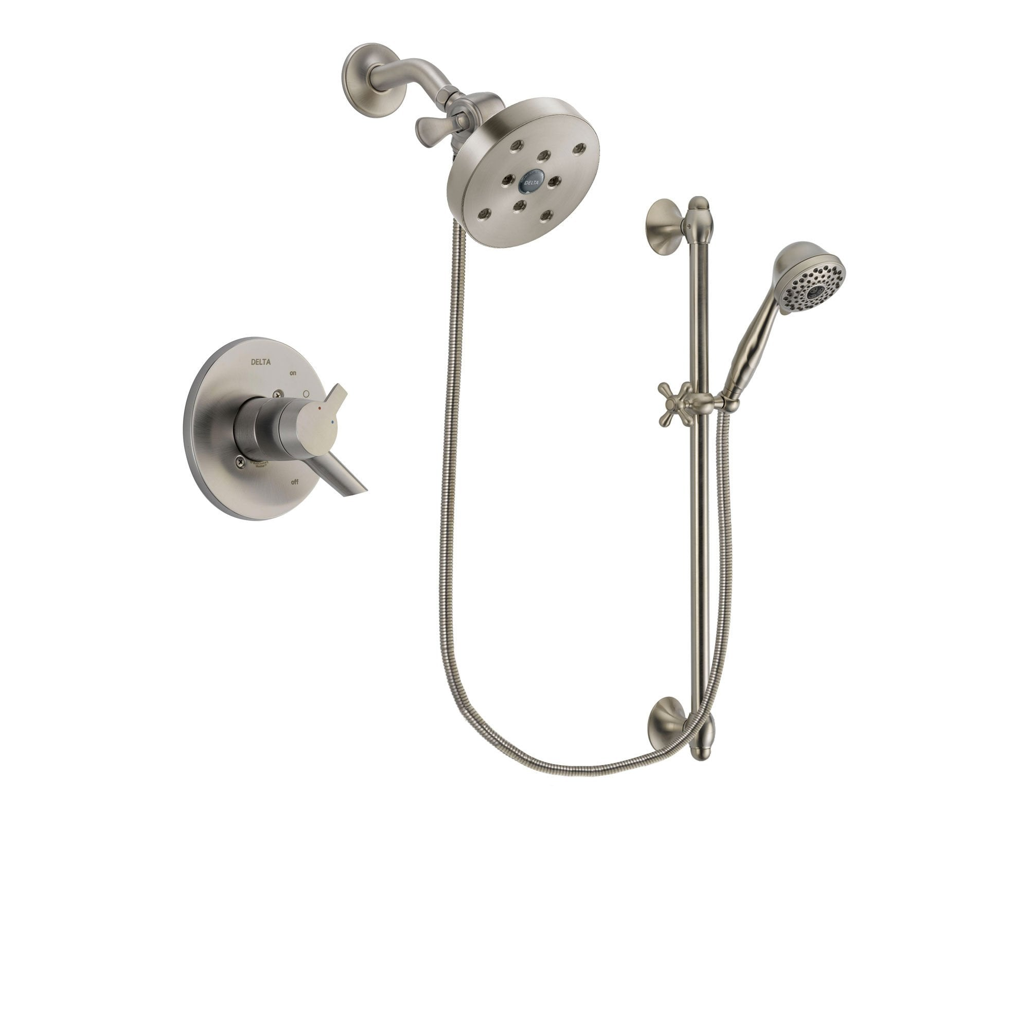 Delta Compel Stainless Steel Finish Shower Faucet System w/ Hand Spray DSP1776V