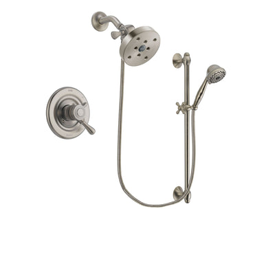 Delta Leland Stainless Steel Finish Shower Faucet System w/ Hand Spray DSP1778V