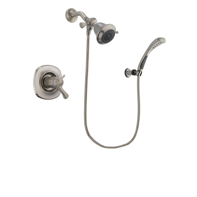 Delta Addison Stainless Steel Finish Thermostatic Shower Faucet System Package with Shower Head and Wall Mounted Handshower Includes Rough-in Valve DSP1792V