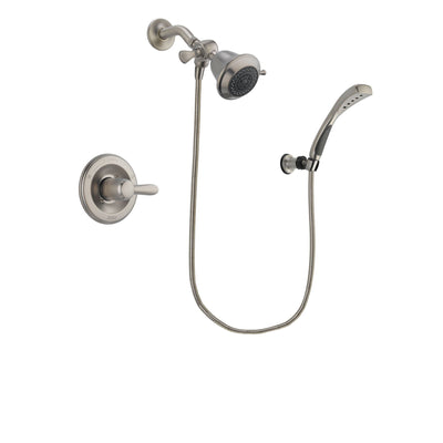 Delta Lahara Stainless Steel Finish Shower Faucet System Package with Shower Head and Wall Mounted Handshower Includes Rough-in Valve DSP1796V