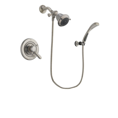 Delta Lahara Stainless Steel Finish Dual Control Shower Faucet System Package with Shower Head and Wall Mounted Handshower Includes Rough-in Valve DSP1806V