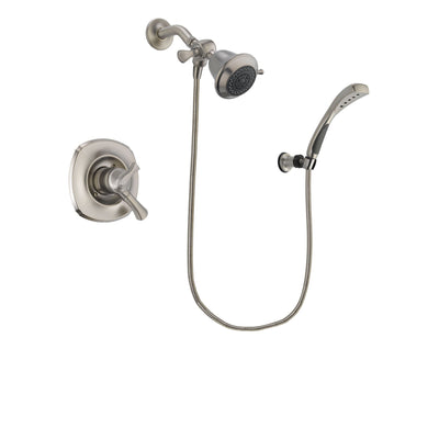 Delta Addison Stainless Steel Finish Dual Control Shower Faucet System Package with Shower Head and Wall Mounted Handshower Includes Rough-in Valve DSP1814V