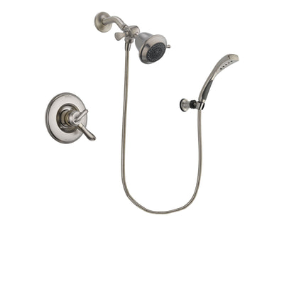 Delta Linden Stainless Steel Finish Dual Control Shower Faucet System Package with Shower Head and Wall Mounted Handshower Includes Rough-in Valve DSP1816V