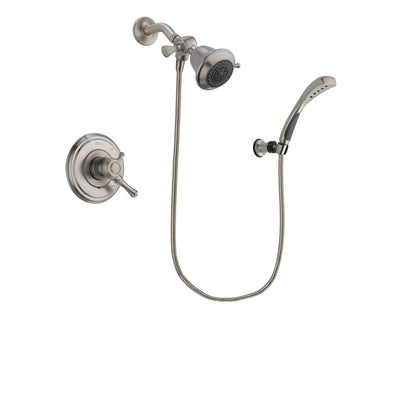 Delta Cassidy Stainless Steel Finish Dual Control Shower Faucet System Package with Shower Head and Wall Mounted Handshower Includes Rough-in Valve DSP1818V