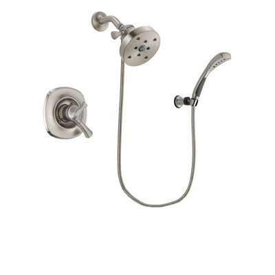 Delta Addison Stainless Steel Finish Dual Control Shower Faucet System Package with 5-1/2 inch Shower Head and Wall Mounted Handshower Includes Rough-in Valve DSP1916V