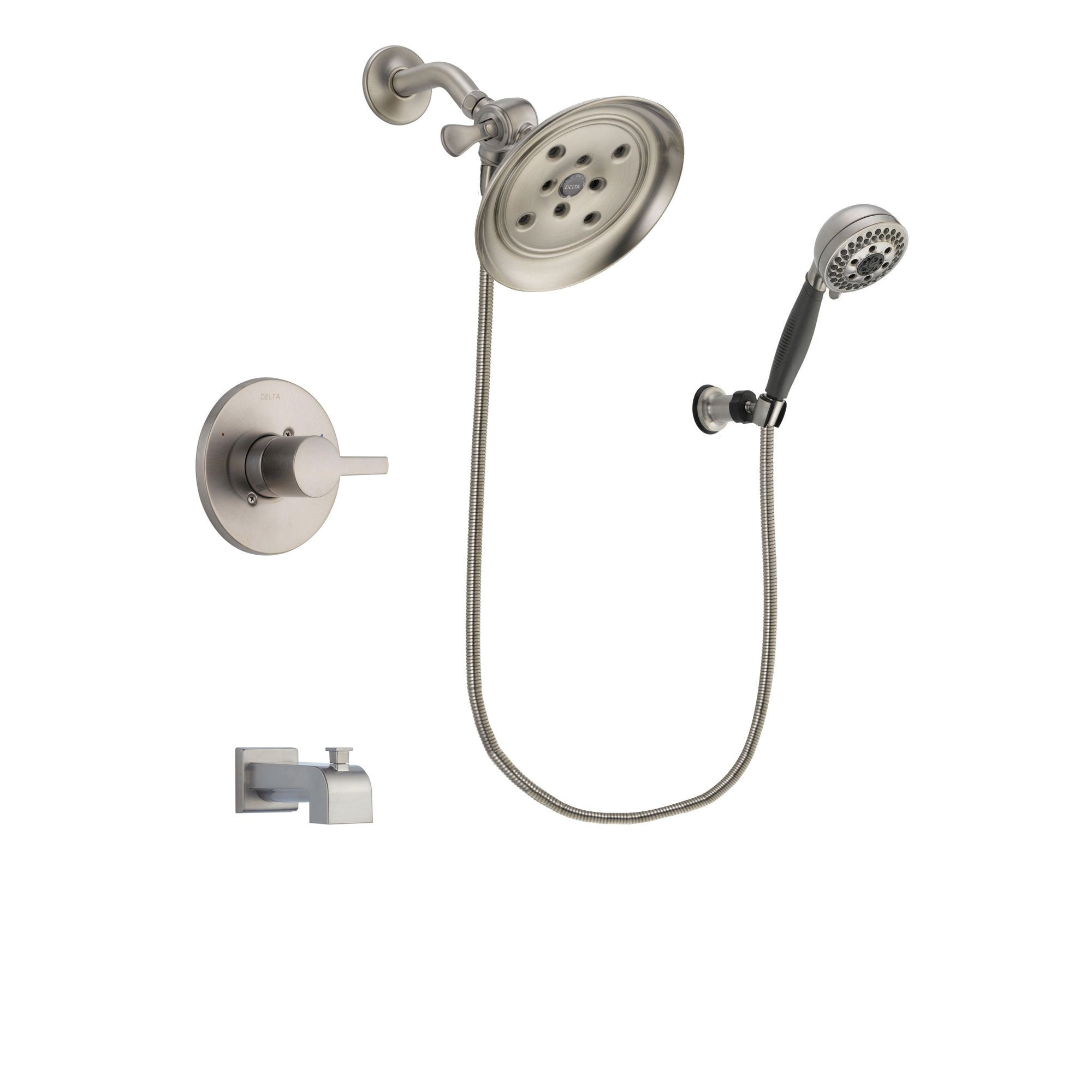 Delta Compel Stainless Steel Finish Tub and Shower System w/Hand Shower DSP2003V