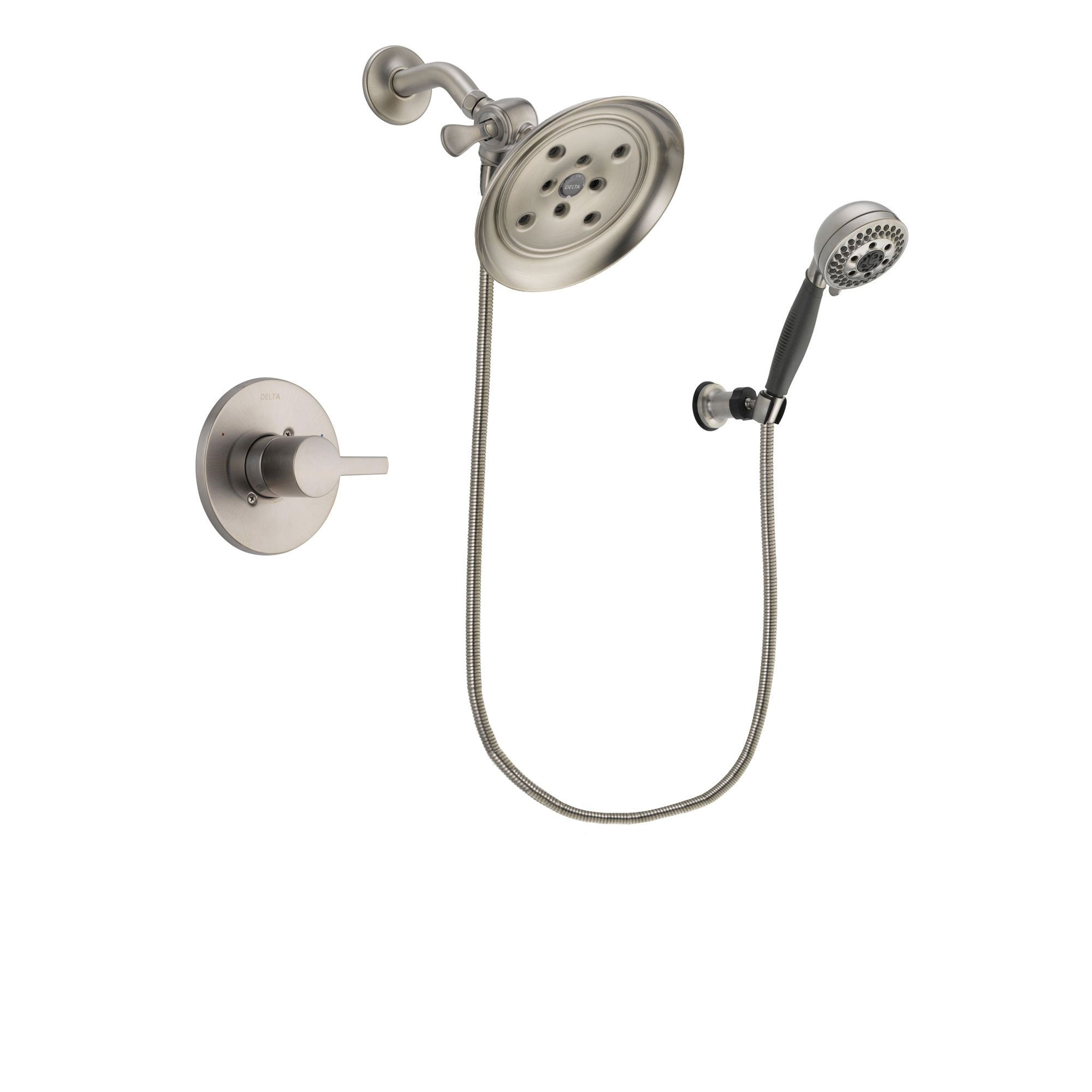 Delta Compel Stainless Steel Finish Shower Faucet System w/ Hand Spray DSP2004V