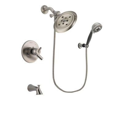 Delta Trinsic Stainless Steel Finish Tub and Shower System w/Hand Spray DSP2011V