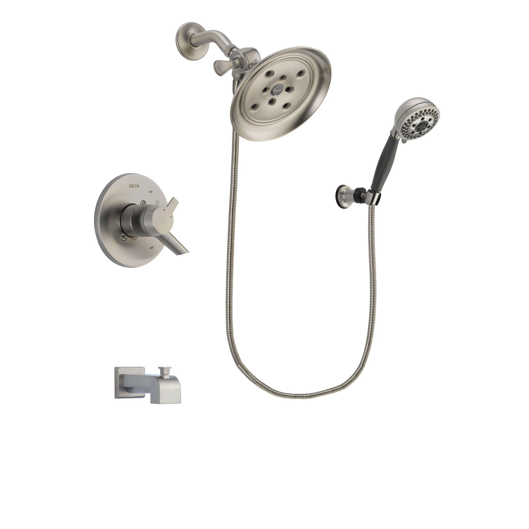 Delta Compel Stainless Steel Finish Tub and Shower System w/Hand Shower DSP2013V