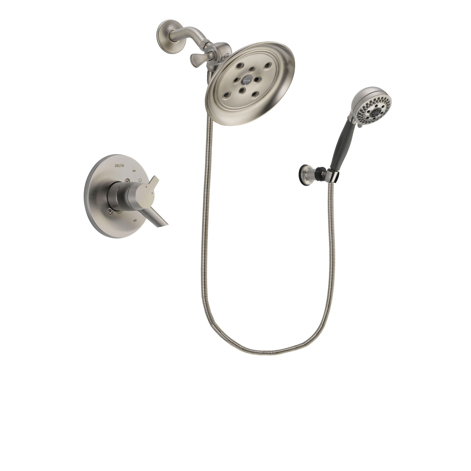 Delta Compel Stainless Steel Finish Shower Faucet System w/ Hand Spray DSP2014V