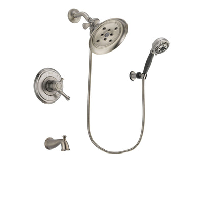 Delta Cassidy Stainless Steel Finish Tub and Shower System w/Hand Spray DSP2021V