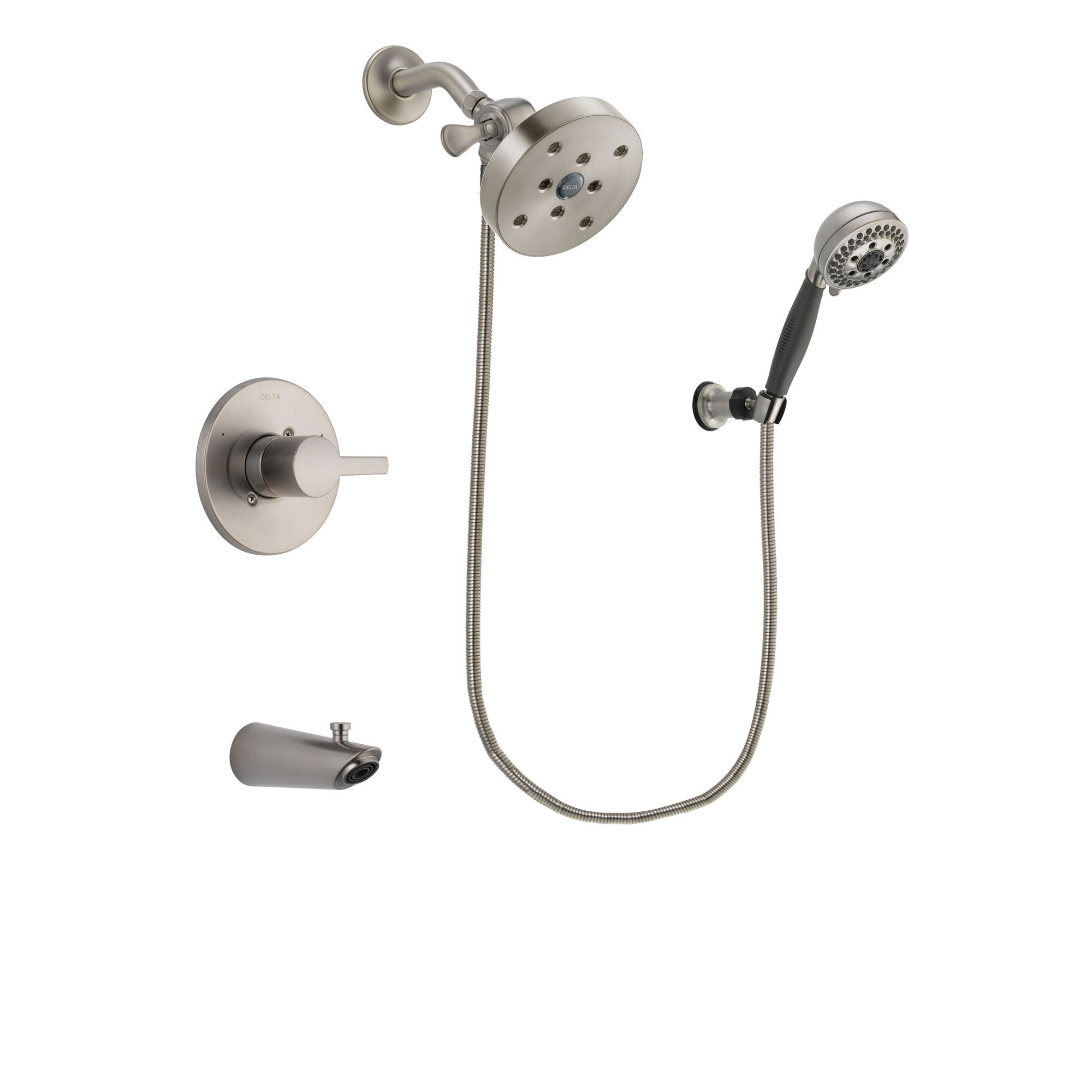 Delta Compel Stainless Steel Finish Tub and Shower System w/Hand Shower DSP2037V