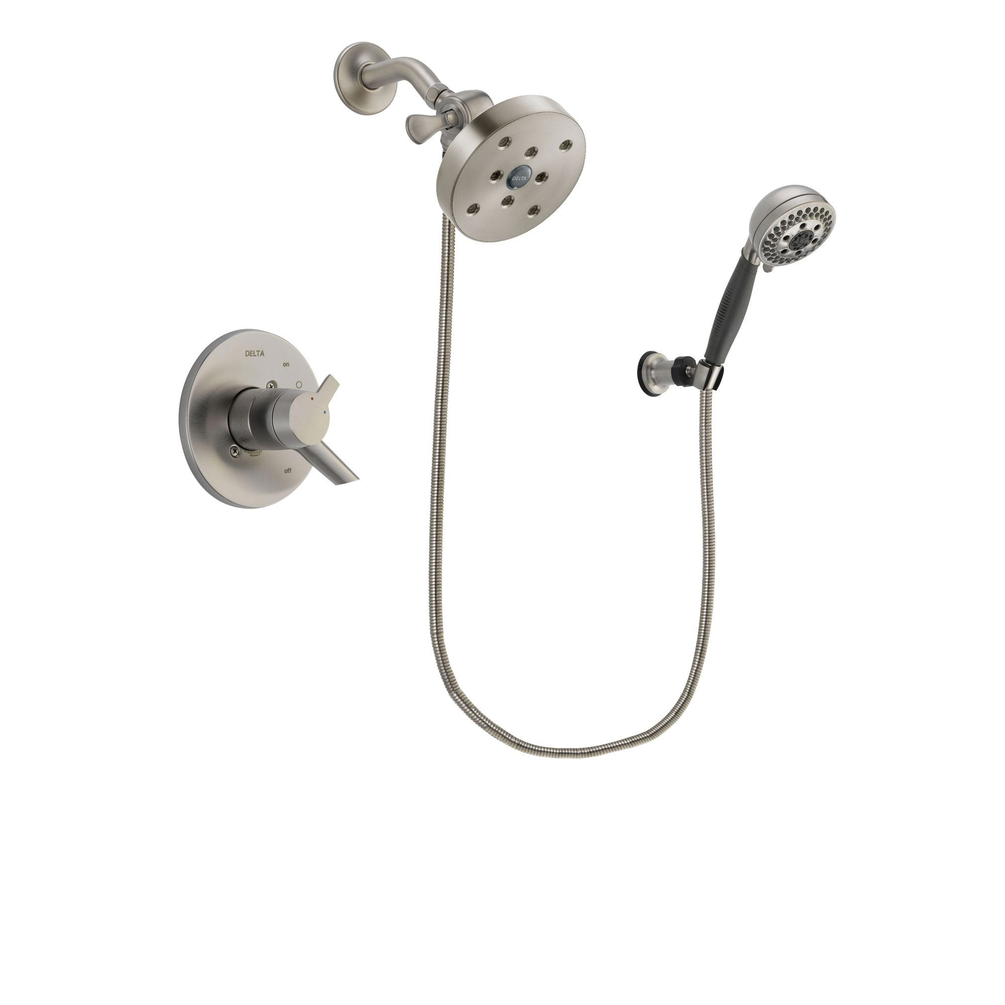 Delta Compel Stainless Steel Finish Shower Faucet System w/ Hand Spray DSP2048V