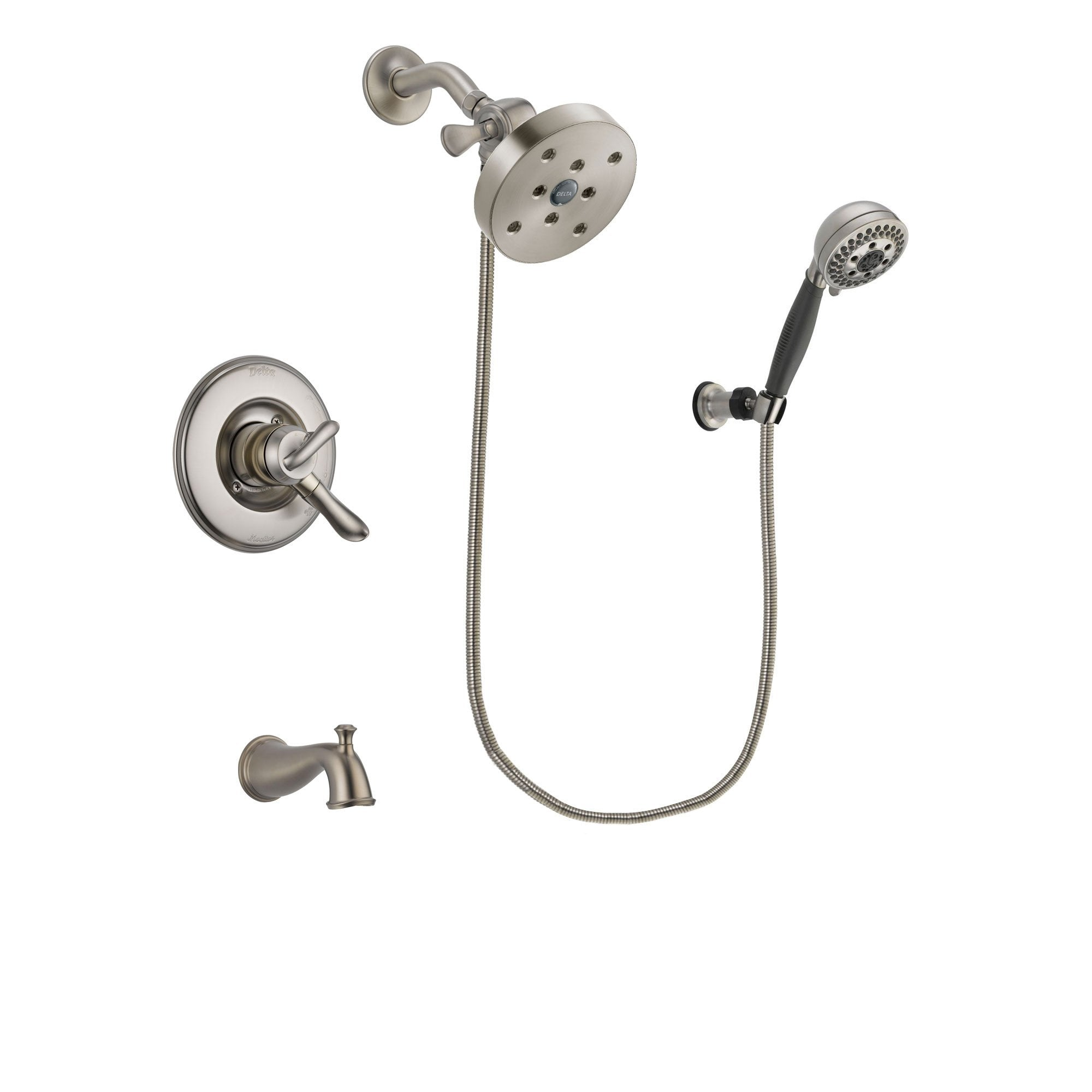 Delta Linden Stainless Steel Finish Tub and Shower System w/Hand Shower DSP2053V