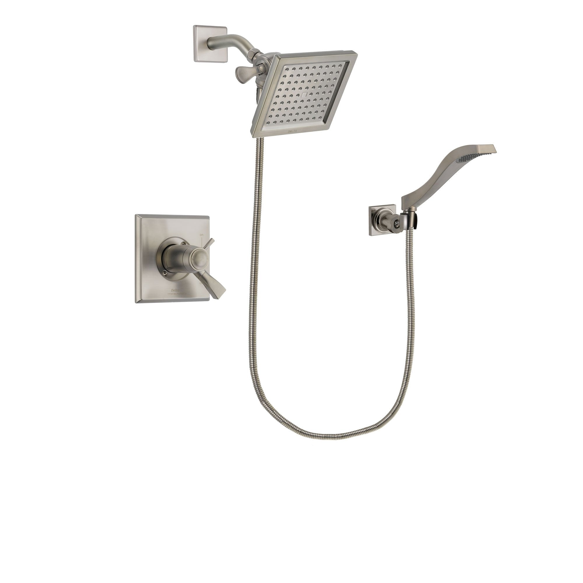 Delta Dryden Stainless Steel Finish Shower Faucet System w/ Hand Spray DSP2076V