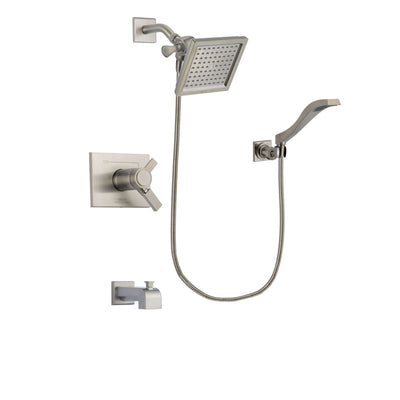 Delta Vero Stainless Steel Finish Tub and Shower System with Hand Spray DSP2077V