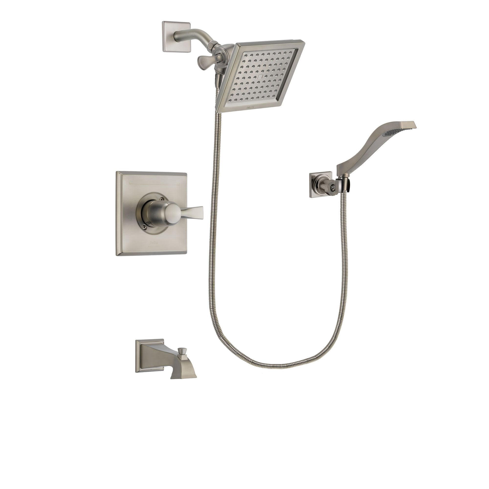 Delta Dryden Stainless Steel Finish Tub and Shower System w/Hand Shower DSP2081V