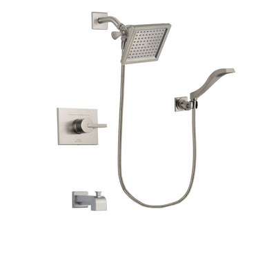 Delta Vero Stainless Steel Finish Tub and Shower System with Hand Spray DSP2083V